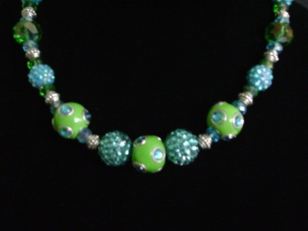 Fashionable Green & Turquoise Beads.