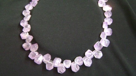 Unusual Amethyst Chunk Necklace.Large Amethyst Chunky Necklace $ 180 SOLD