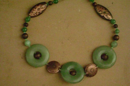 Jade & Copper Necklace.