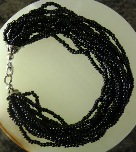 Multiple Black Seed  Beads