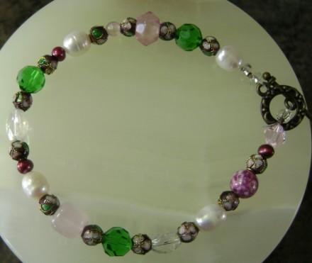 Cloisonne', Pearls, & Crystal