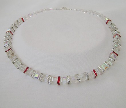 Gorgeous Crystal Necklace Made Using Rare Cubes. $ 180.00